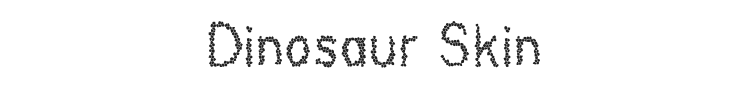 Dinosaur Skin Font Preview