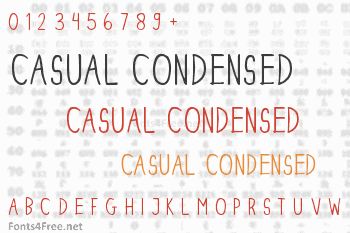 Dinski Casual Condensed Font