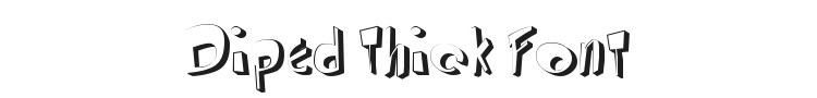 Diped Thick Font Preview