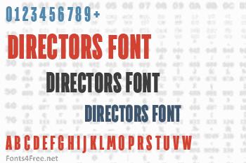 Directors Font