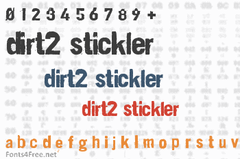 Dirt2 Stickler Font