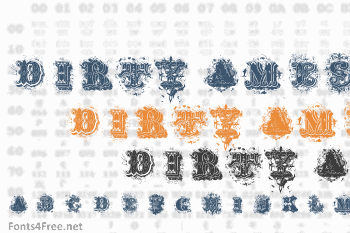 Dirty Ames Font