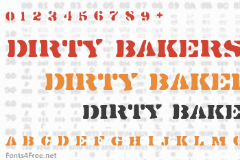 Dirty Bakers Dozen Font