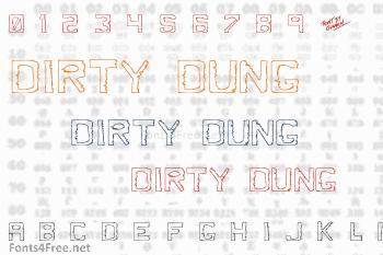 Dirty Dung Font