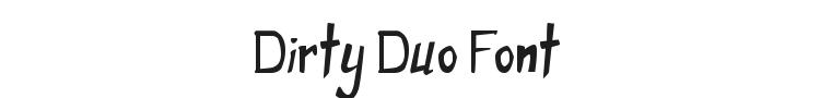 Dirty Duo Font