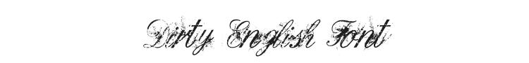 Dirty English Font