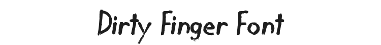 Dirty Finger Font Preview