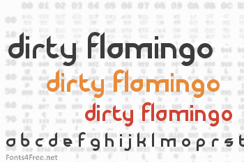 Dirty Flamingo Font