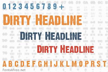 Dirty Headline Font