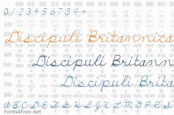 Discipuli Britannica Font