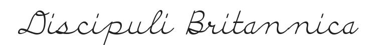 Discipuli Britannica Font Preview