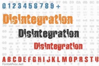 Disintegration Font