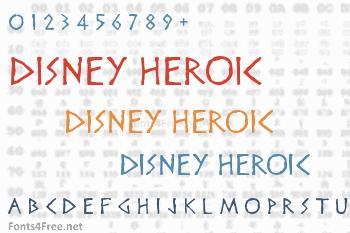 Disney Heroic Font
