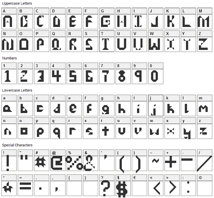 Dispose Font Character Map