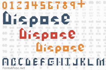 Dispose Font