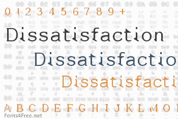 Dissatisfaction Font