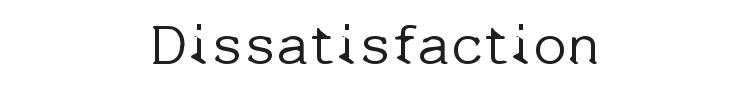 Dissatisfaction Font Preview