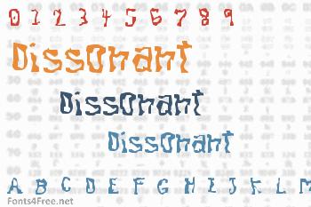 Dissonant Font