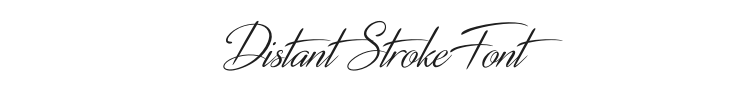 Distant Stroke Font Preview