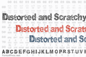 Distorted and Scratchy Font