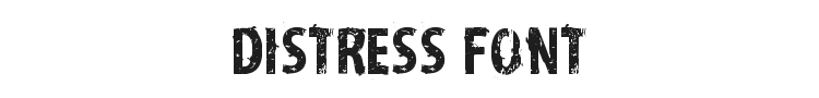 Distress Font Preview