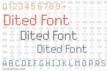 Dited Font