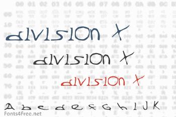 Division X Font