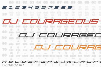 DJ Courageous Font