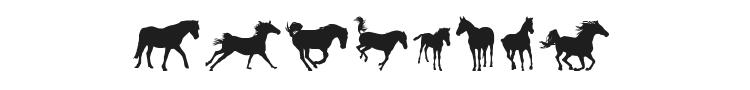 DJ Horses 1 Font Preview