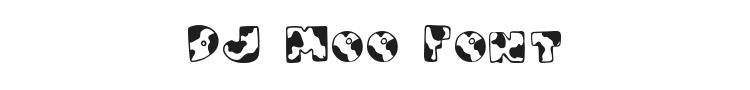 DJ Moo Font Preview