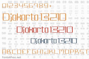 Djakarta 13210 Font