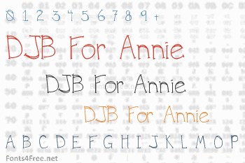 DJB For Annie Font