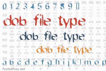 Dob File Type Font