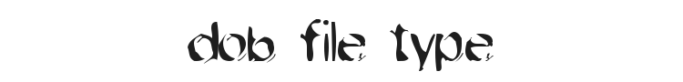 Dob File Type Font Preview