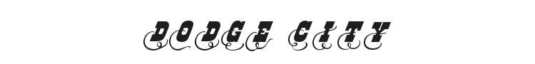 Dodge City Initials Font Preview