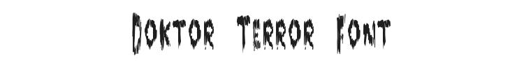 Doktor Terror Font Preview