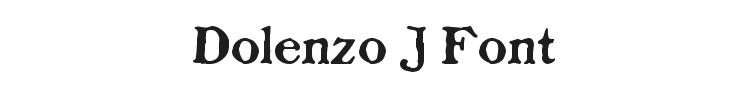Dolenzo J Font Preview