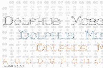 Dolphus-Mieg Alphabet Two Font