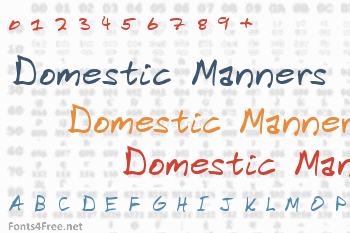 Domestic Manners Font