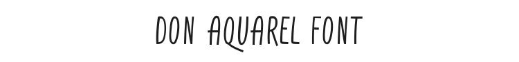 Don Aquarel Font