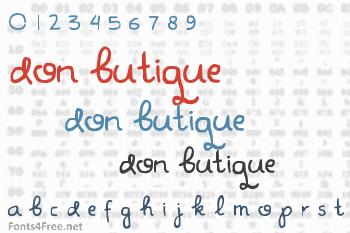 Don Butique Font