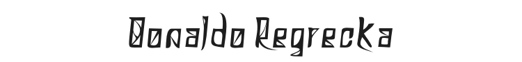 Donaldo Regrecka Font Preview