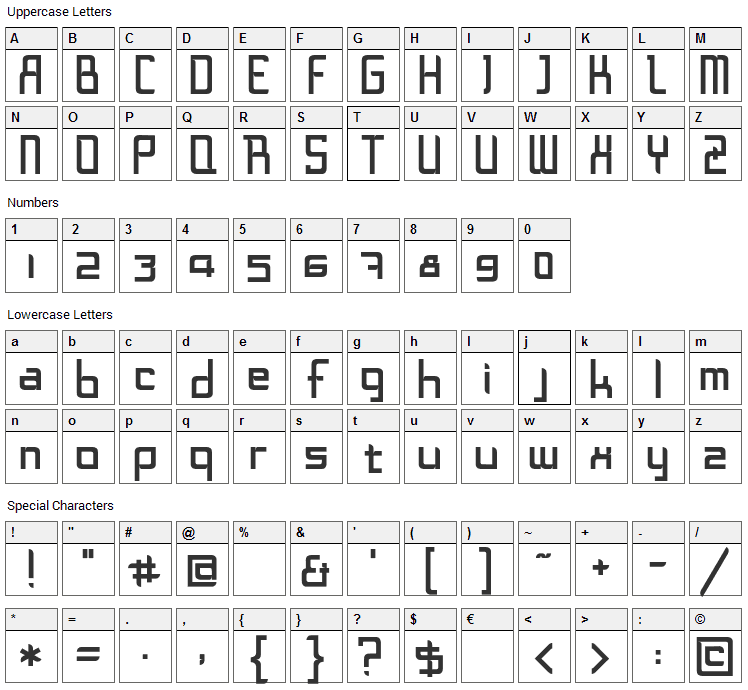 [d]online Font Character Map