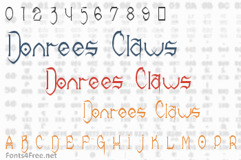 Donrees Claws Font
