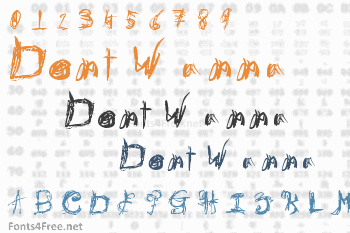 Dont Wanna Font