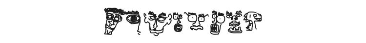 Doodle Dudes of Doom Font Preview