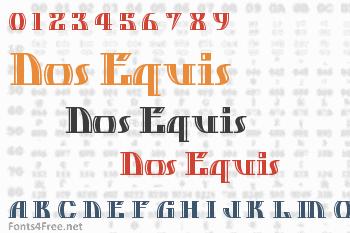 Dos Equis Font