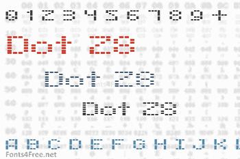 Dot 28 Font