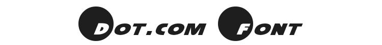 Dot.com Font Preview