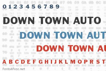 Down Town Auto Font